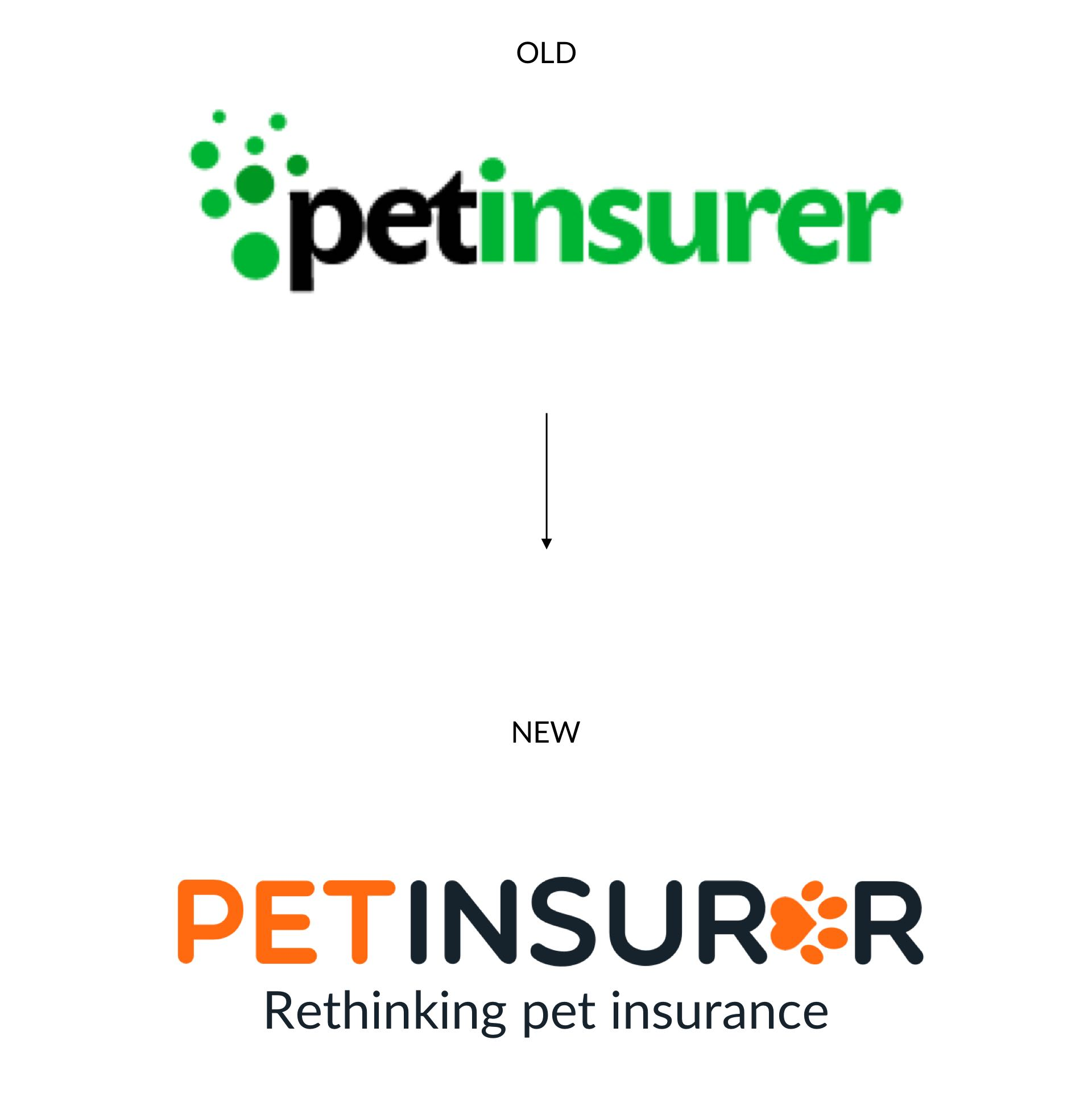 old to new pet insurer logo mobile