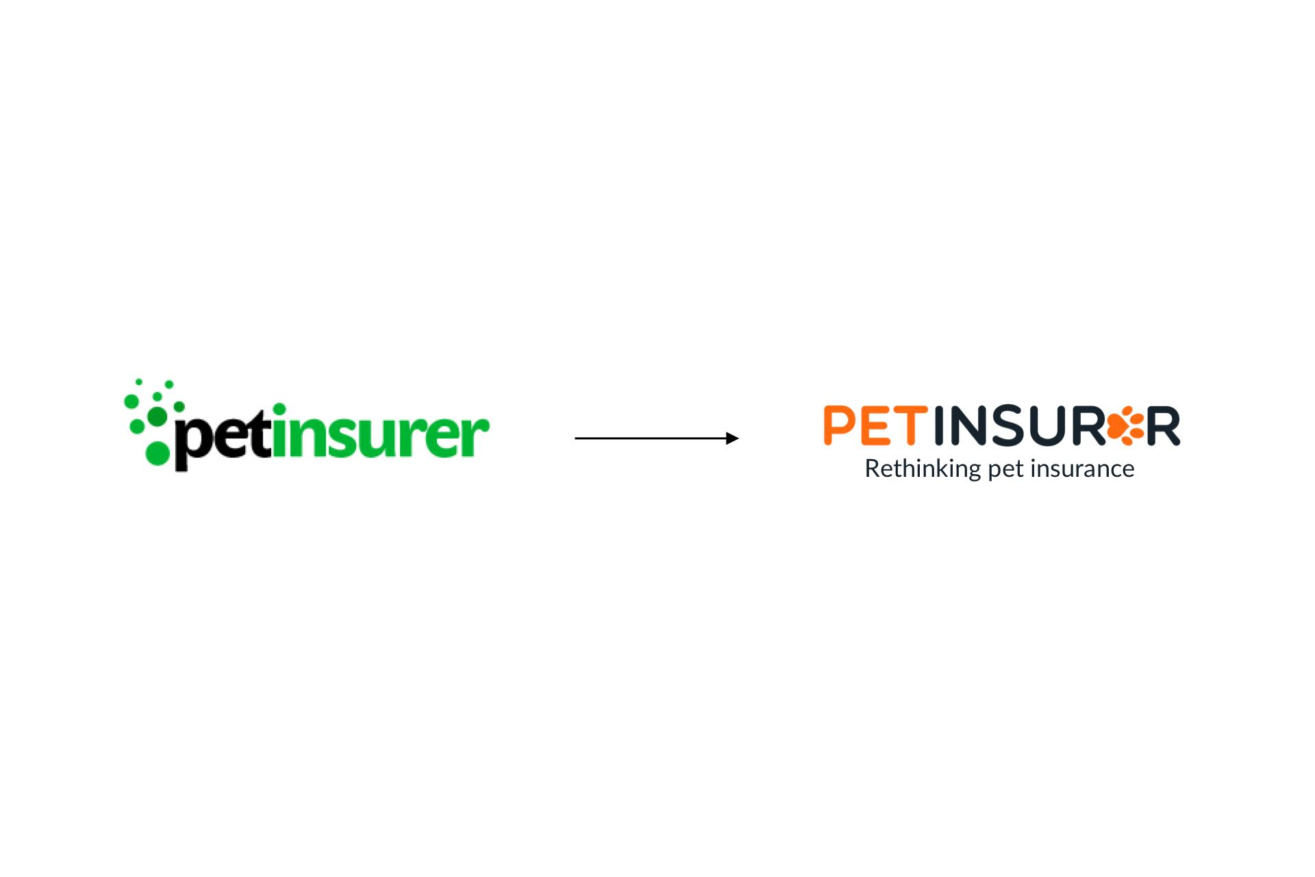 pet insurer logo before and after